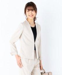KUMIKYOKU/【セットアップ対応】ニューセットアップ ノーカラージャケット/500944012