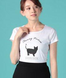 ELISA/【ご自宅で洗える】キャットプリントTシャツ/500884124