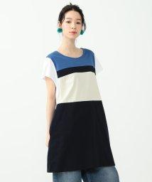Ray BEAMS/ALOYE × Ray BEAMS / 別注 カラー ブロック ドレス/500944307