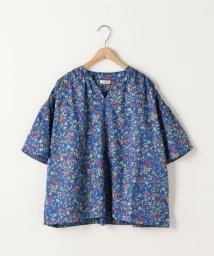 coen/コットンサテン小花柄ブラウス(フラワープリントブラウス)/500925994