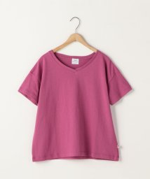 coen/【『リンネル』6月号掲載】USAコットンVネックTシャツ/500925996
