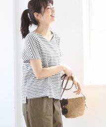 coen/【『リンネル』6月号掲載】STフライスVネックカットソー(tシャツ)/500925997