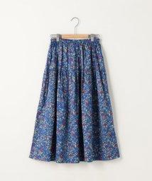 coen/コットンサテン小花柄ロングフレアスカート(フラワープリントスカート)/500925998