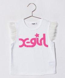 X-girl Stages/立体ロゴプリントフリル袖Tシャツ/500927381