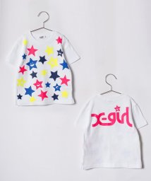 X-girl Stages/キラッキー総柄Tシャツ/500927382