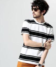 nano・universe/プレーティングボーダーTシャツ/500942001