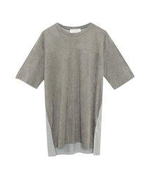 Re:EDIT/スウェード切り替えTシャツ/500944772