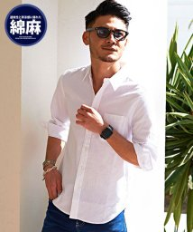 VICCI/VICCI【ビッチ】綿麻7分袖リネンシャツ/500956064