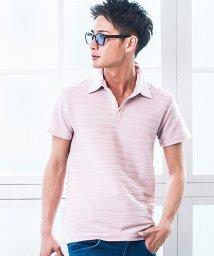 VICCI/VICCI【ビッチ】タックジャガード半袖ポロシャツ/500956067