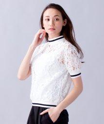 en recre/【Face Campana】総レーススポーティカットソー/500924025