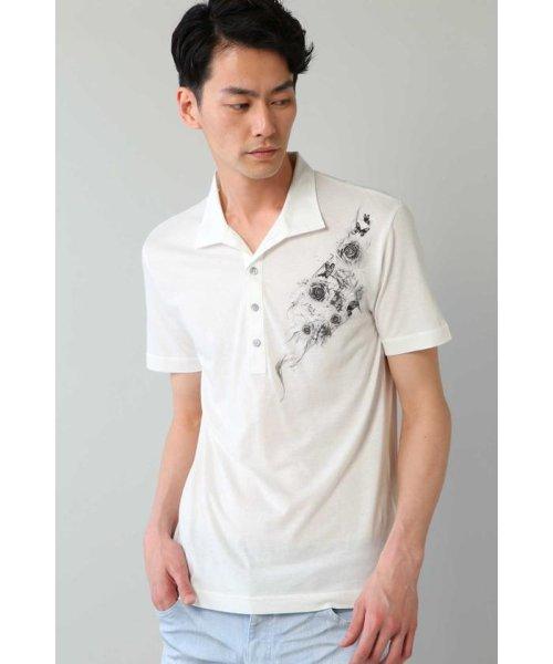 TORNADO MART(トルネードマート)/Zero by TORNADO MART∴バタフライ&スモークプリントプリントポロシャツ/6318178500