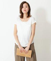 SocialGIRL/美ラインシンプルUネックTシャツ/500955714