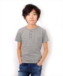 GLAZOS/ベーシック・ヘンリーネック半袖Tシャツ/500955905