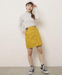 Ray Cassin /配色ゴム台形スカート/500957224