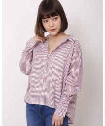DOUBLE NAME/切り替えストライプシャツ/500957236