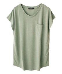 SocialGIRL/美ラインシンプルVネックTシャツ/500958036