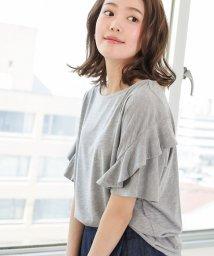 SocialGIRL/フリル袖Tシャツ/500958038