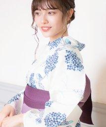 Dita/Dita【ディータ】1人で簡単に着られる作り帯の可愛い女性浴衣 4点フルセット(ゆかた・作り帯・下駄・着付けカタログ)幻想花しだれ/500958448