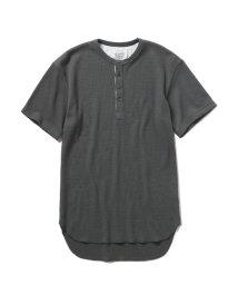GELATO PIQUE HOMME/【GELATO PIQUE HOMME】ワッフルヘンリーネックTシャツ/500961262