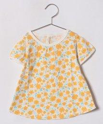 LAGOM/花柄パフスリーブTシャツ/500926167