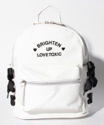 Lovetoxic/ロゴ刺しゅう入りサイドレースアップリュック/500936598