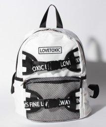 Lovetoxic/ロゴベルトつきリュック/500936599