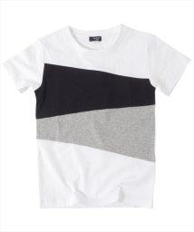 GLAZOS/カラーブロック半袖Tシャツ/500955893
