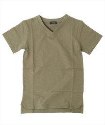 GLAZOS/ベーシックVネック半袖Tシャツ/500955898