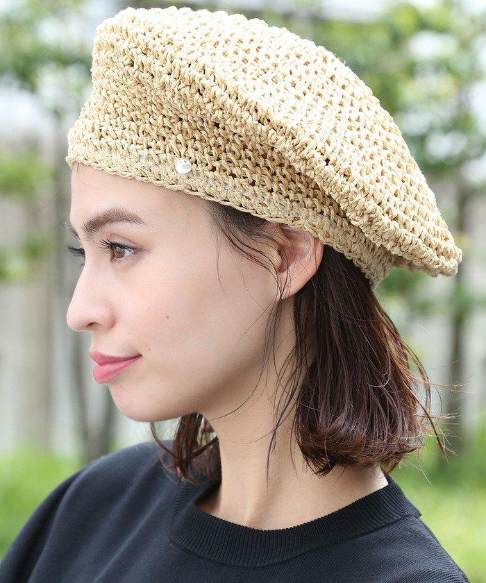 手編みペーパーベレー帽