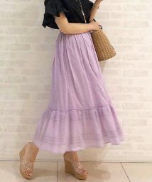31 Sons de mode/インド製ストライプ刺繍スカート/500957923