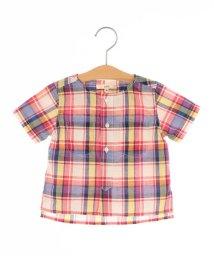 SHIPS KIDS/SHIPS KIDS:クルーネック 半袖 チェックシャツ(80~90cm)/500962672