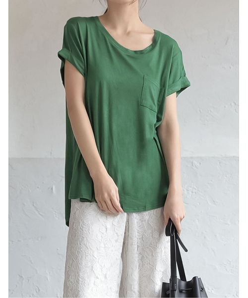 Re:EDIT(リエディ)/ポケット付きTシャツ/117514
