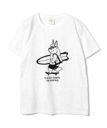 BEAMS MEN/fLAnsisCA × BEAMS / Print T-shirt/500886570