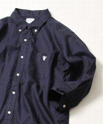 coen/オックスフォード七分袖ドットプリントシャツ/500925974