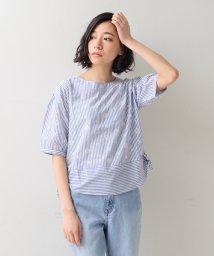 Afternoon Tea LIVING/ストライプ刺繍裾リボンプルオーバー/500927314