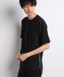 STYLEBLOCK/サイドジップ綿ポンチBIGTシャツ/500927443