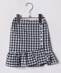 petit main/裾フリル切り替えギンガムチェック柄スカート/500936590
