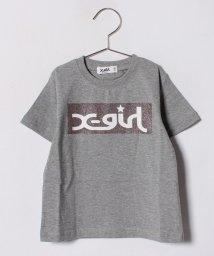 X-girl Stages/ラメボックスロゴTシャツ/500936603