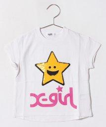 X-girl Stages/スパンコールビッグキラッキーTシャツ/500936604