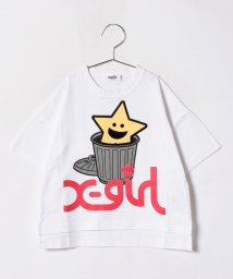 X-girl Stages/HELLO! キラッキービッグTシャツ/500936605
