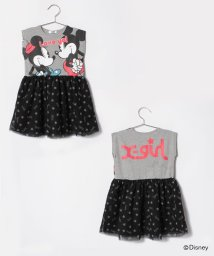 X-girl Stages/Disneyコラボ切り替えチュールスカートワンピース/500936607