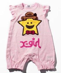 X-girl Stages/キラッキー&ストローハットフリルショートカバーオール/500936614