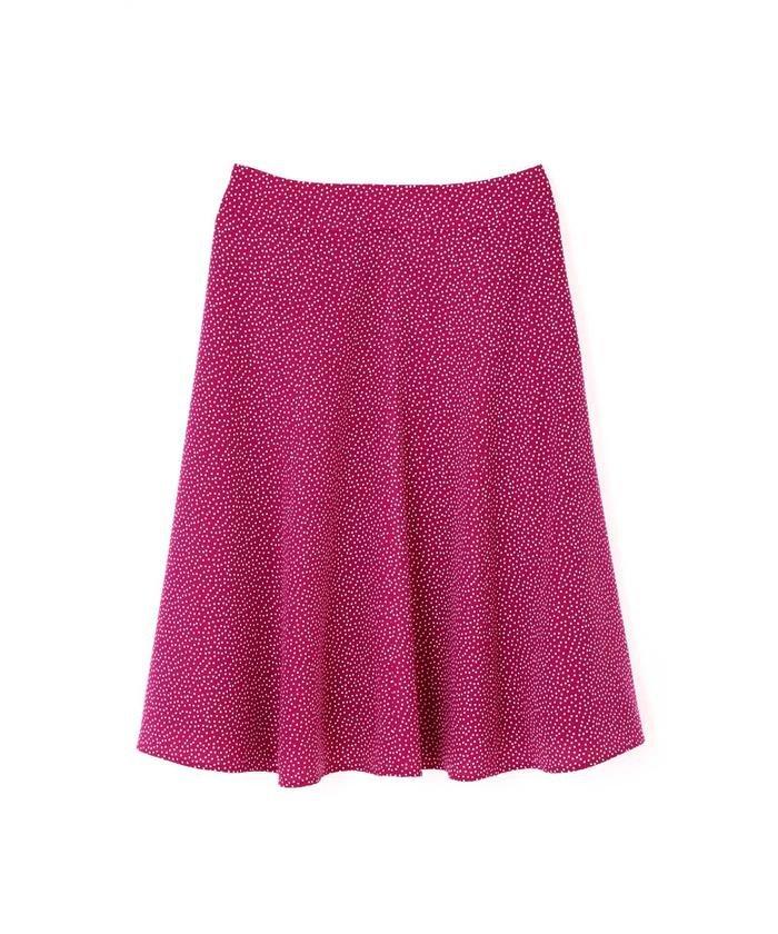 ◆大きいサイズ◆楊柳ドットプリントスカート