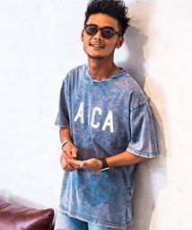CavariA/CavariA【キャバリア】カットデニムビッグシルエットクルーネック半袖Tシャツ/500965374