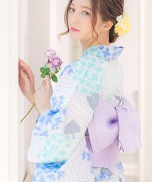 Dita/Dita【ディータ】1人で簡単に着られる作り帯の可愛い女性浴衣 4点フルセット(ゆかた・作り帯・下駄・着付けカタログ) 大正百花絢爛/500965380
