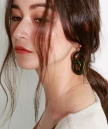 marjour/INFINITY WOOD PIERCE(EARRING)/500465111