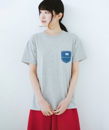 haco!/Lady Lee デニムポケットTシャツ/500901715