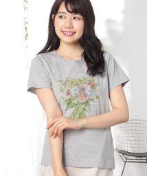 Afternoon Tea LIVING/ブーケ柄Tシャツ/500927320