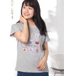 Afternoon Tea LIVING/パンジー柄Tシャツ/500927324