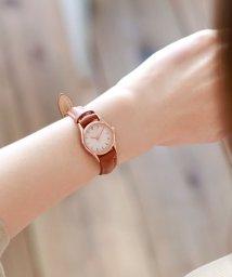 colleca la/コンパクトレザー腕時計/500962608